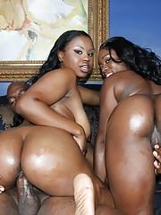 Ebony and Laylan wide open