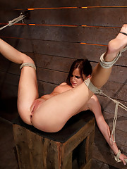 Cute 20yr old girl next door gets in over her head. Bound with legs up &amp; spread, foot torture, caning, we make her cum from finger banging her G spot!