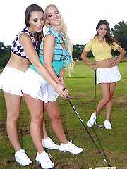 Mini skirt molly and her school girls fuck one another after a game of mini golf hot lesbian group sex