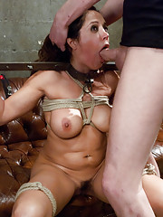 Unfaithful Busty Latina MILF in rough anal sex and bondage with real husband!