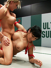 Former collegian athlete vs Hot Milf! 2 rookies battle it out, which Noob is getting totally PWND? Loser gets double fucked in humiliating orgasms!