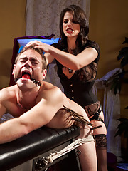 John gets broken in hard for his first time with Divine Bitches, Mistress Bobbi Starr. See him experience assfucking and CBT by a true divine bitch!