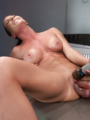 Double vag, double pen, triple pen, explosive squirting orgasms, two machines fucking her at the same time. She is a non-stop orgasm. She is Ariel X.