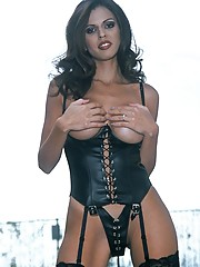 Shy Love super sexy in lingerie stockings and hooker boots