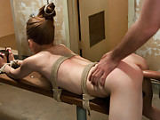 Flexible girl abducted by boyfriend and fucked in strict bondage!