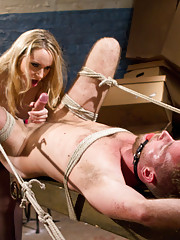 Egotistical slaveboy gets broken down by wicked blonde dominatrix
