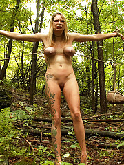 """""""The Dig"""": The conclusion, A BDSM Abduction Horror Feature film starring Cherry Torn, Rain DeGrey, & Iona Grace.  Outdoor bondage at its best!"""