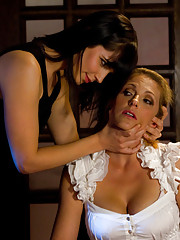 This intimate dinner for 2 for lesbian couple Roxanne Hall and Bobbi Starr turns into an intense & stimulating night of REVENGE for hot MILF Roxanne!