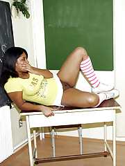 Exotic teen punished sexually by an old and horny teacher