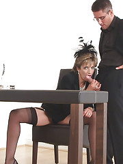 Dominant mature office boss sonia