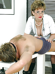 Cock milking mature fetish nurse