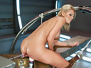 Jaw dropping sexy blond girl out fucked by machines - she cums fast and hard, oils up her own ass while getting nailed and even tries anal.