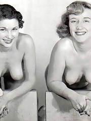 A lot of vintage sweeties posing in fifties