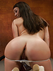 Marry that ass or the pussy - french babe gets fucked and stretched until she can fist her ass. She takes big dick deep and the machines on high.