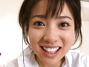 Haruka Itoh Asian has cum out of mouth after getting phallus