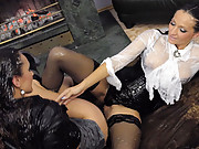 Two dirty lesbians enjoy shagging each other