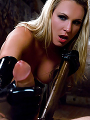 Mistress Harmony dominates and reams this guys ass
