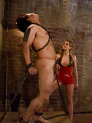 Matrisse Madeline trains the basement slave in hard BDSM