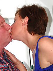 Hot british chick banging a big truck driver