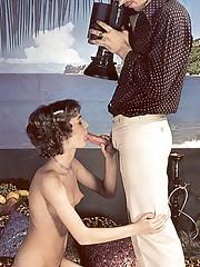 Eighties teen doing a real naughty photoshoot