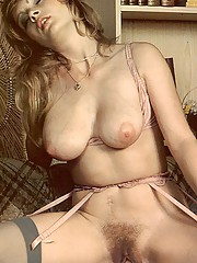 Busty seventies lady fucked by two big dicks