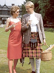 Seventies lady seduced by horny scottish guy