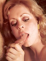 Retro blonde loves a cock inside her snatch