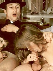 Horny seventies priest boning two wet girls