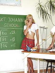 Dirty teacher fucks his very horny student