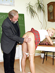 Old school teacher fucks one of his students