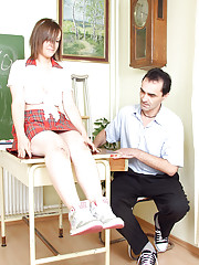 A naughty horny girl disciplined by teacher