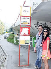 Very horny couple loves railway track fucking
