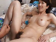 Misuzu Shiratori has clitoris rubbed and hairy love box licked