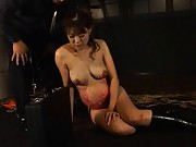 Yuri Matsushima is pregnant and gets wax on her body while hangin