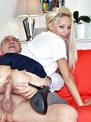 Very horny chap drilling a sexy street slut