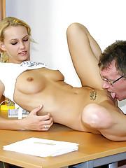 A sexy schoolgirl fucked hardcore by teacher