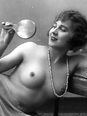 Pretty cute topless girls posing in twenties