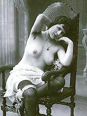 Vintage chicks in their underwear in twenties