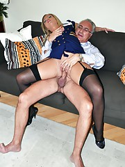 Hot horny street slut nailed hard by old cock