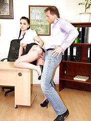 A boss nailing his horny secretary hardcore