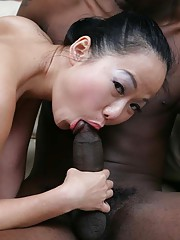 This sexy Taiwanese honey has come to the states seeking big American cock.