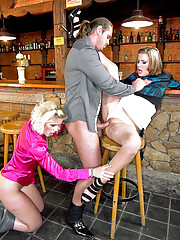 Bartender pissing on two crazy willing girls