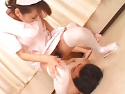 Maria Ozawa Asian nurse has pussy licked sitting on chap mouth