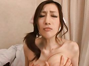 JULIA Asian nurse has big and playful boobs fondled by patient