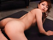 Akiho Yoshizawa with push ups wants to see how is doggy fucked