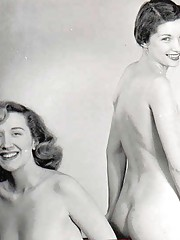 Cute vintage lesbians undressing in fifties