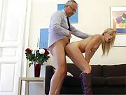 Very horny street slut snorkeling senior cock