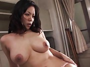 Miki Sato Asian with huge cans gets wild fuck and sperm after it