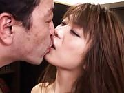 Hikari Hino Asian has twat rubbed and melon fondled in hot fuckin