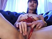 Misuzu Imai Asian feels pussy pleasured with vibrator and finger